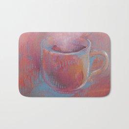 Pink Coffee Cup Bath Mat