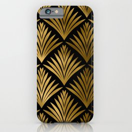 Luxurious Black and Gold Art Deco Elegant Pattern iPhone Case