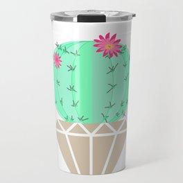 Round cactus in the goshka Travel Mug