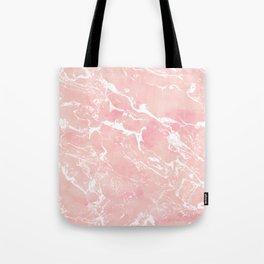 Modern pastel blush pink watercolor marble pattern Tote Bag