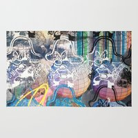 yosemite Area & Throw Rugs featuring YOSEMITE/ STRIPES by Brandon Neher