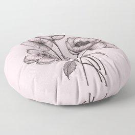 Palid Flowers  Floor Pillow