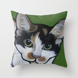 Callie the Calico Throw Pillow