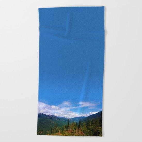 Northern Cascade Sky Beach Towel