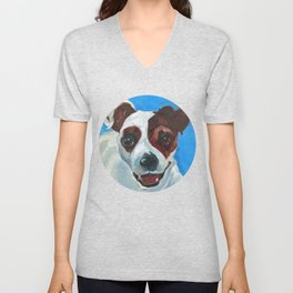 Buster the Pup Unisex V-Neck