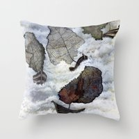 ship Throw Pillows featuring Ship by Andreas Derebucha