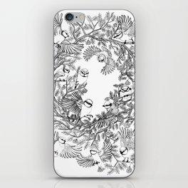 Birds tree botanical pattern iPhone Skin
