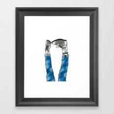 Reverse_white bg Framed Art Print