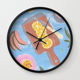 Fruit Muffins Still Life Kitchen Art Wall Clock
