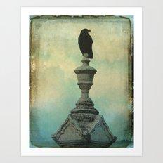 Ornate Crow Art Print