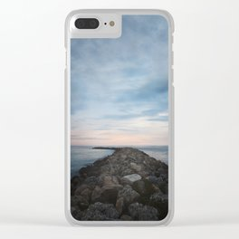 The Jetty at Sunset - Landscape Clear iPhone Case