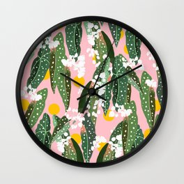 Turn your face to the Sun & the shadows follow behind you #illustration Wall Clock