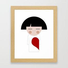 japan animation (in love..boy) Framed Art Print