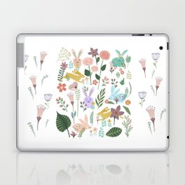 Springtime In The Bunny Garden Of Floral Delights Laptop & iPad Skin