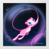 mew Canvas Prints featuring Mew by Psyconorikan