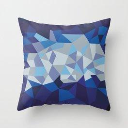 Blue Diamond Illustration Throw Pillow