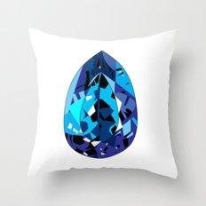 GEMS - blue , shine , single piece Throw Pillow
