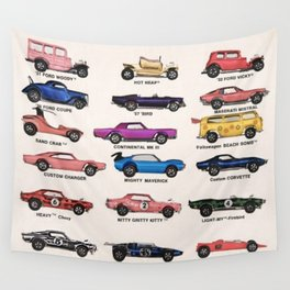 1969 Vintage Hot Wheels Redline Dealer's Store Display Poster Wall Tapestry