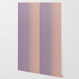 Lavender and Neutral Color Vertical Stripes Wallpaper