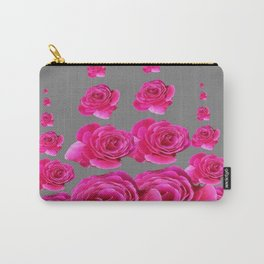 DECORATIVE SURREAL FUCHSIA PINK ROSES  COLUMNS Carry-All Pouch
