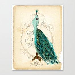 Peacock bustle mannequin Canvas Print