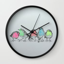 NEON ROBINS Wall Clock