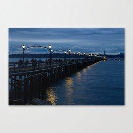 White Rock Pier at Blue Hour Canvas Print