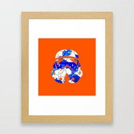 Stormtrooper Contrast Pattern 2 Framed Art Print