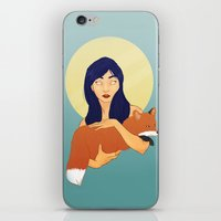 kitsune iPhone & iPod Skins featuring Kitsune by Sweet Demise Designs