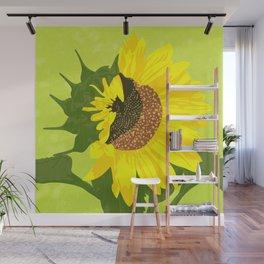 Sunflower: half open Wall Mural