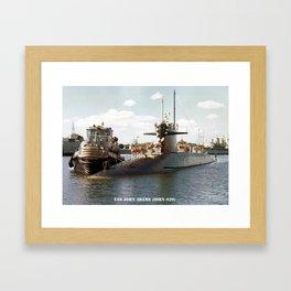 USS JOHN ADAMS (SSBN-620) Framed Art Print