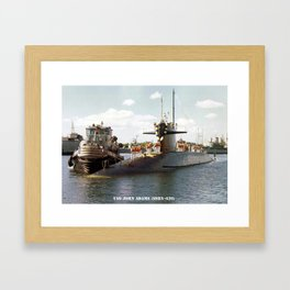 USS JOHN ADAMS (SSBN-620) Framed Art Print