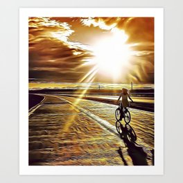 Chasing the Sun Airbrush Artwork Art Print