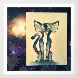 Cosmic Kitty Art Print