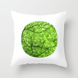 green spring tree II Throw Pillow
