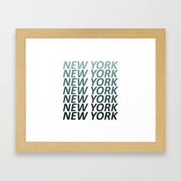 New York Green Haze Framed Art Print