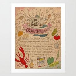 Crawfish Pie Bisque Art Print