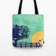 Cow Sunset Tote Bag
