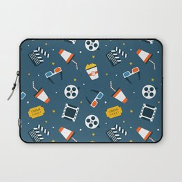 Movie Night Whimsical Pattern Laptop Sleeve