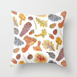 Forest Treasures - Pattern Throw Pillow