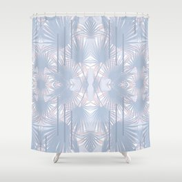 Tropical Art Deco Pattern - Pastel blue and pink Shower Curtain