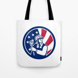American Engineer USA Flag Icon Tote Bag