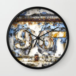 Contemporary Metal Rusty Circus Trailer Wall Clock