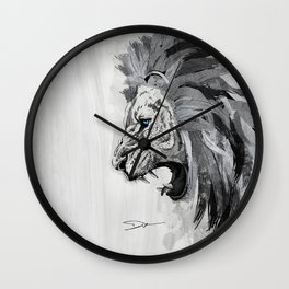 Lion - The king of the jungle Wall Clock