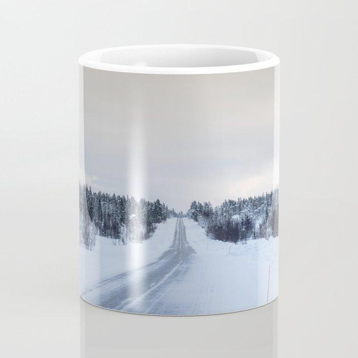 Icy Road in Finland Coffee Mug