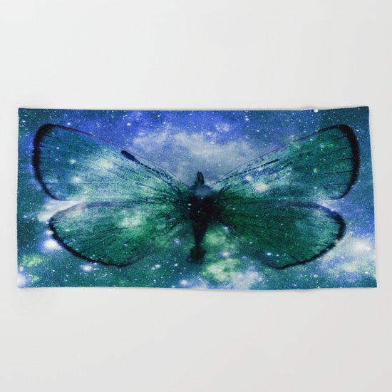 Celestial Butterfly Beach Towel
