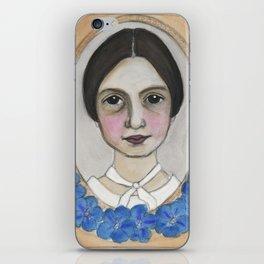 Emily Dickinson and the Geranium Blues iPhone Skin