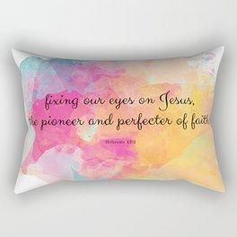 Perfecter of Faith, Scripture Tote Bag Rectangular Pillow