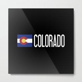 Colorado: Coloradan Flag & Colorado Metal Print