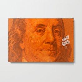 Benjamin Dark (orange light) Metal Print
